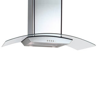 36-inch Curved Glass/ Stainless Steel Range Hood