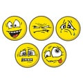 Motocons Mood Swing Pack 5-piece Car Magnet Set