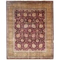 Safavieh Hand-knotted Ganges River Purple/ Gold Wool Rug (8' x 10')