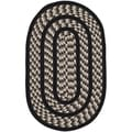 Safavieh Hand-woven Braided Ivory/ Black Rug (2'6 x 4' Oval)