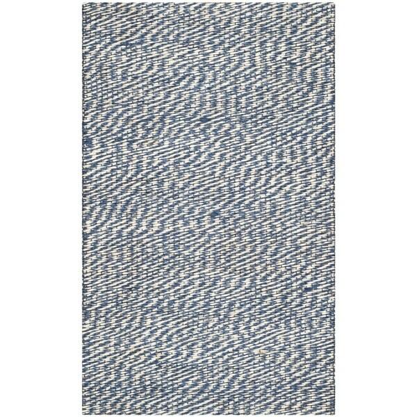 Safavieh Natural Fiber Blue/ Ivory Sisal Rug (2'6 x 4')