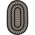 Safavieh Hand-woven Braided Ivory/ Black Rug (3' x 5' Oval)