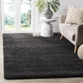 Safavieh Milan Shag Dark Grey Rug (5'1 Square)