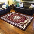 Kingdom Design Red Oriental Area Rug (5'x7')