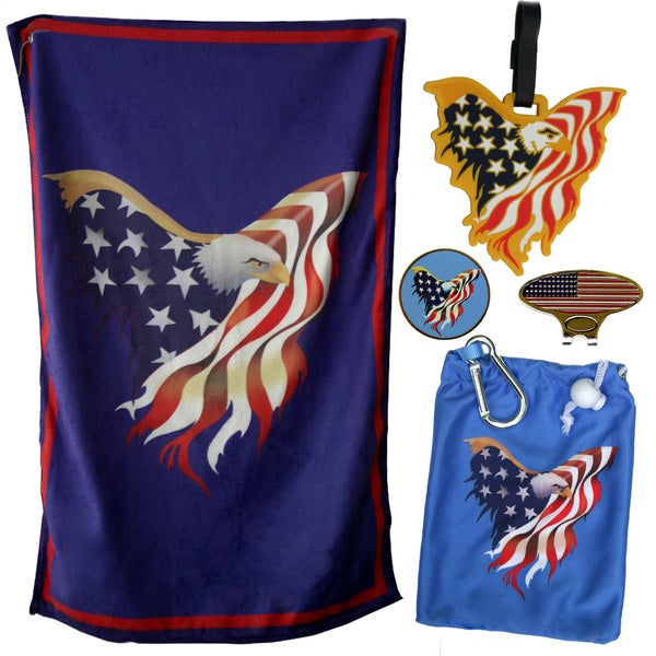 Freedom Patriotic Golf Ball Marker and Accessories Bundle