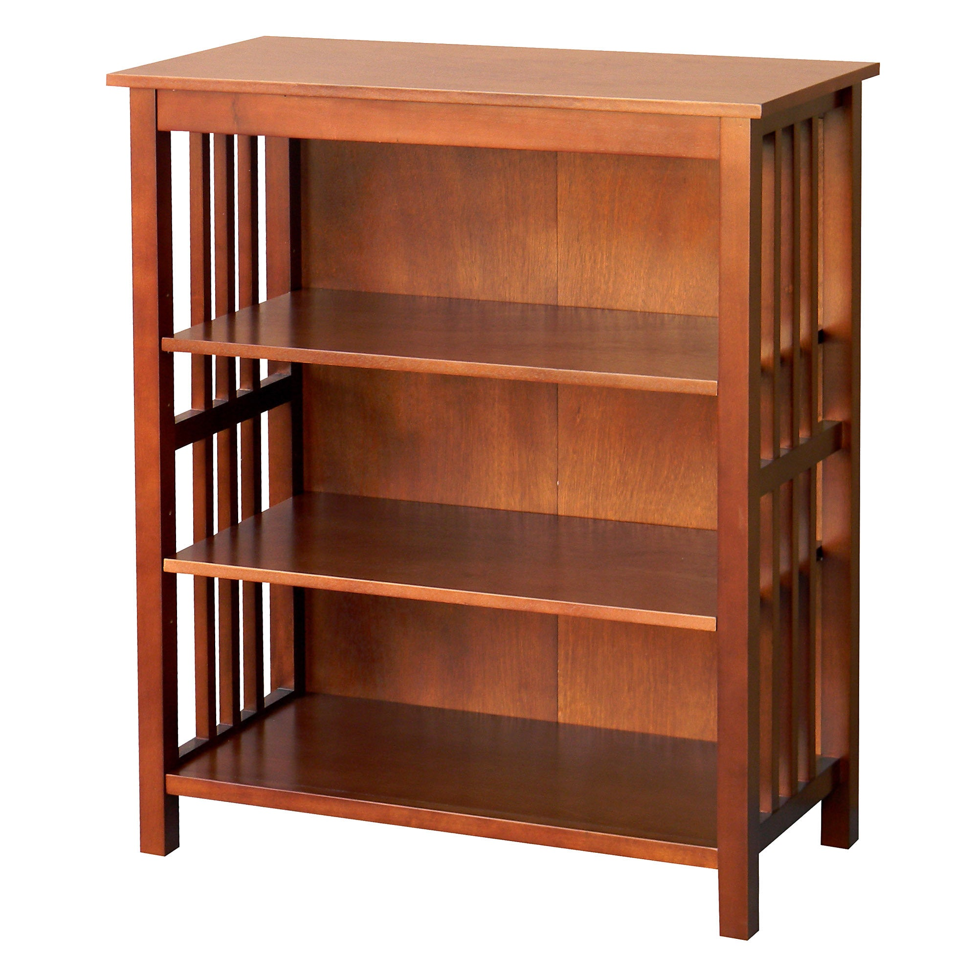 hollydale 36 inch chestnut bookcase overstock shopping great deals on donnieann media. Black Bedroom Furniture Sets. Home Design Ideas