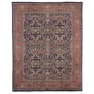 Safavieh Hand-knotted Farahan Sarouk Navy/ Rust Wool Rug (8' x 10')