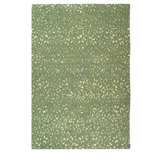 Safavieh Hand-knotted Suzanne Kasler Aqua/ Cream Wool/ Silk Rug (4' x 6')