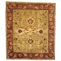 Safavieh Hand-knotted Peshawar Vegetable Dye Light Gold/ Red Wool Rug (9' x 12')