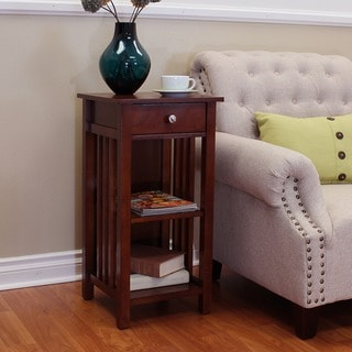 Hollydale Chesnut 1-drawer Accent Table