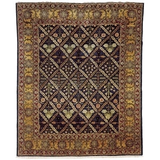 Safavieh Hand-knotted Peshawar Vegetable Dye Navy/ Gold Wool Rug (9' x 12')