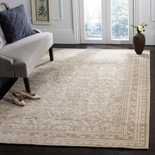 Safavieh Hand-knotted Suzanne Kasler Sky Blue/ Cream Wool/ Silk Rug (4' x 6')
