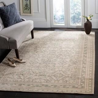 Safavieh Hand-knotted Suzanne Kasler Sky Blue/ Cream Wool/ Silk Rug (8' x 10')