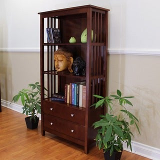 Hollydale Large 2-drawer Chestnut Bookcase