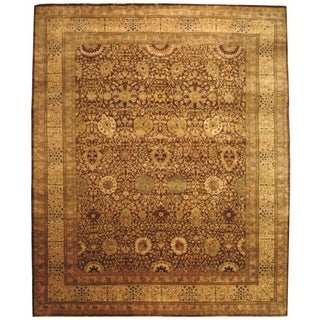 Safavieh Hand-knotted Lavar Brown/ Ivory Wool Rug (12' x 15')
