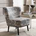 Baxton Studio Onassis Beige Linen Accent Chair