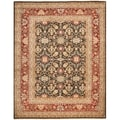 Safavieh Hand-knotted Samarkand Green/ Red Wool Rug (9' x 12')