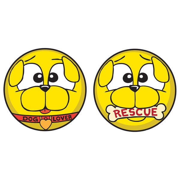 Motocons Dog Lovers Pack 2-piece Car Magnet Set
