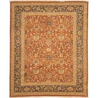 Safavieh Hand-knotted Samarkand Rust/ Navy Wool Rug (12' x 18')