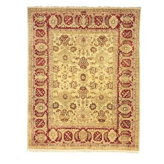 Safavieh Hand-knotted Peshawar Vegetable Dye Ivory/ Red Wool Rug (12' x 15')