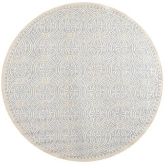 Safavieh Handmade Cambridge Moroccan Light Blue/ Ivory Rug (10' Round)