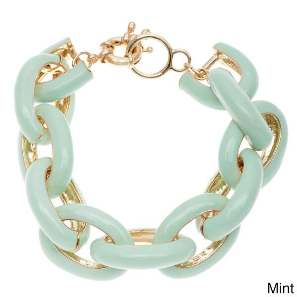 Enamel Chain Link Bracelet