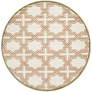 Safavieh Amherst Ivory/ Light Green Rug (7' Round)