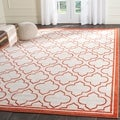 Safavieh Amherst Ivory/ Orange Rug (9' x 12')