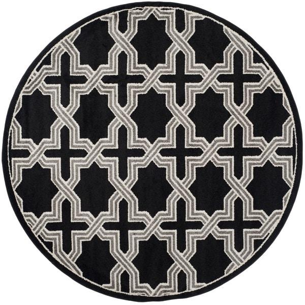 Safavieh Amherst Anthracite/ Grey Rug (7' Round)