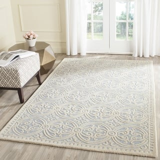 Safavieh Handmade Moroccan Cambridge Light Blue/ Ivory Wool Rug (7'6 x 9'6)