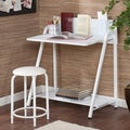 Upton Home Benito White Desk/ Stool Set
