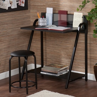 Upton Home Benito Black Desk/ Stool Set