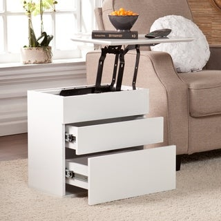 Upton Home Mosley White Lift-Top Side Storage Table