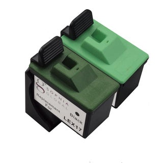 Sophia Global Remanufactured Ink Cartridge Replacement for Lexmark 17 and Lexmark 27 (1 Black and 1 Color)