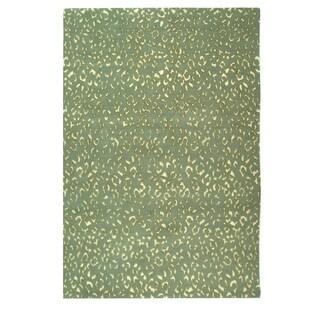 Safavieh Hand-knotted Suzanne Kasler Aqua/ Cream Wool/ Silk Rug (6' x 9')