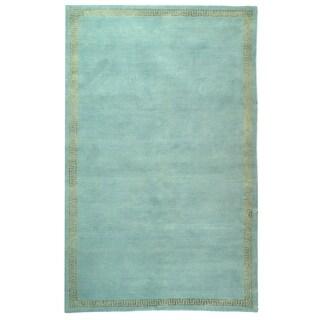 Safavieh Hand-knotted Suzanne Kasler Aqua/ Gold Wool/ Silk Rug (6' x 9')