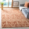 Safavieh Hand-knotted Santa Fe Wicker/ Rust Wool Rug (6' x 9')