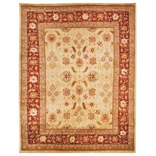 Safavieh Hand-knotted Samarkand Ivory/ Rust Wool Rug (6' x 9')