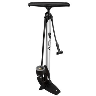 BV Bike Silver Aluminum Floor Tire Pump