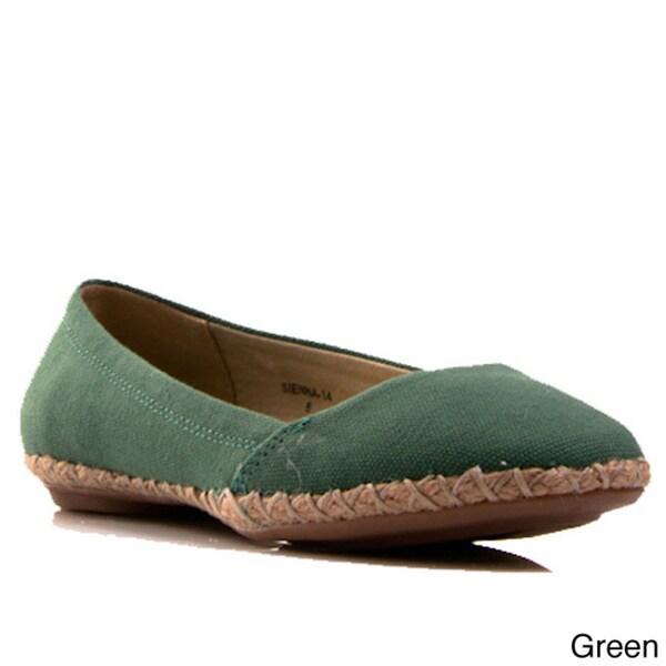 Gomax Women's Shoe Sienna 14 Canvas Espadrille Flat