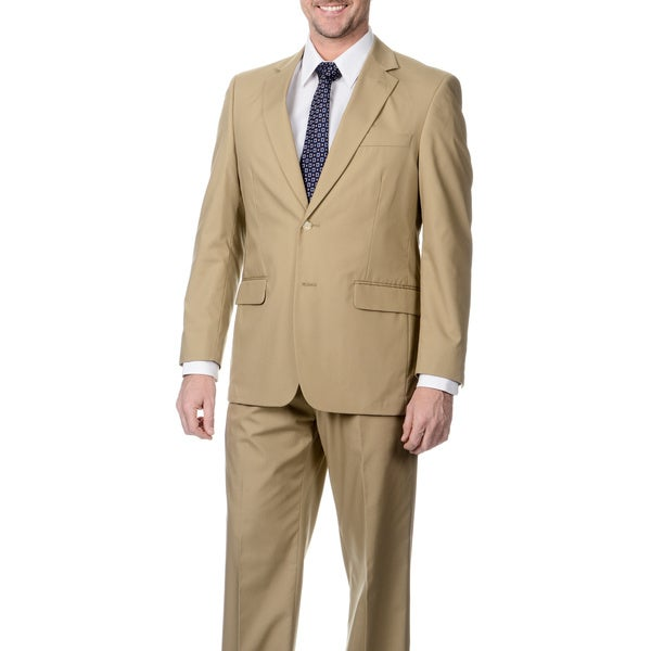 Henry Grethel Men's Khaki 2-button Suit