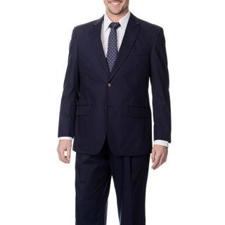 Henry Grethel Big & Tall Men's Carbon Blue 2-button Suit