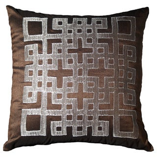 Ando 18-inch Chocolate Geometric Throw Pillow (Set of 2)