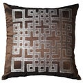 Ando 18-inch Chocolate Geometric Throw Pillow (Set of 2)