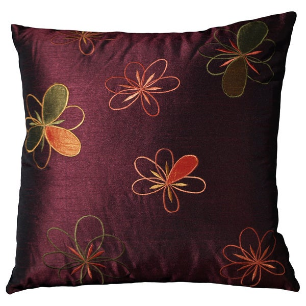 Adelice Blackberry Purple Decorative Throw Pillow (Set of 2)