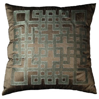 Ando 18-inch Mole Brown Geometric Throw Pillow (Set of 2)