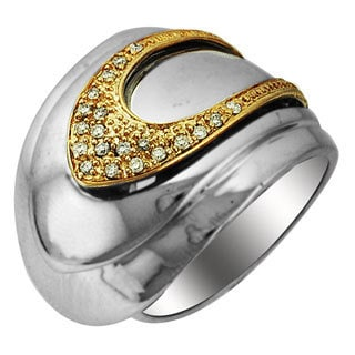 Sonia Bitton 14k Gold/Silver Designer Two-Tone Diamond Ring (H-I, SI1-SI2)