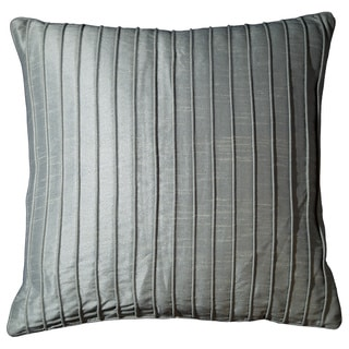 Marlene 18-inch Steel Blue Ribbed Throw Pillow (Set of 2)