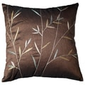 Sedgwick 18-inch Chocolate Leaf Decorative Throw Pillow (Set of 2)