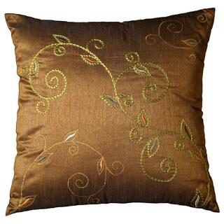 Winslet 18-inch Cedar Brown Vine Decorative Throw Pillow (Set of 2)